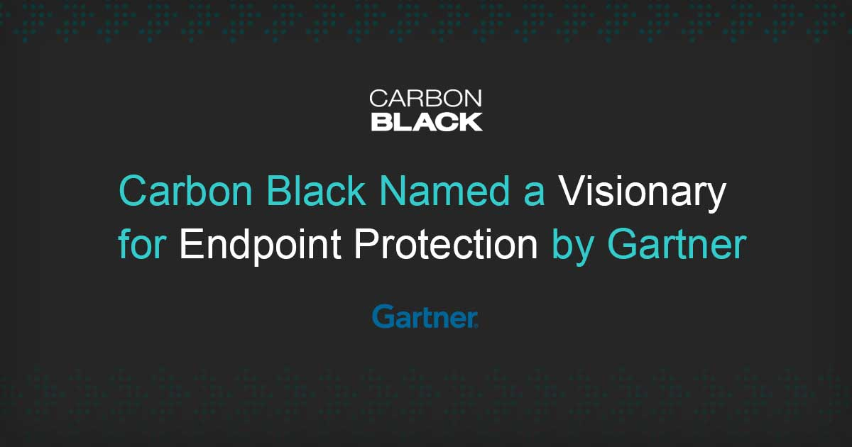 Carbon Black Named a Visionary in Gartner EPP Magic Quadrant