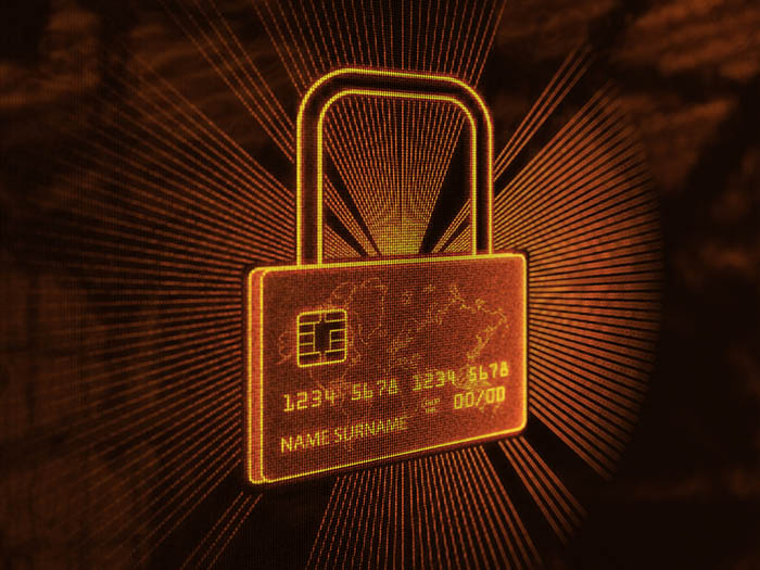 Secure credit card gold