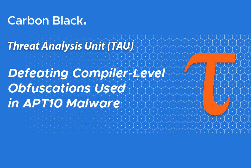 Defeating Compiler-Level Obfuscations Used in APT10 Malware