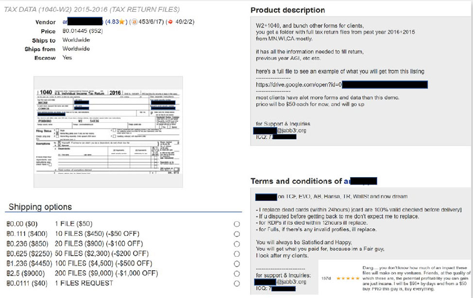 """Carbon Black Report Finds Tax Fraud & """"Identity Theft On Demand"""