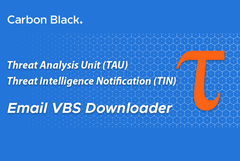 CB TAU Threat Intelligence Notification: Email VBS