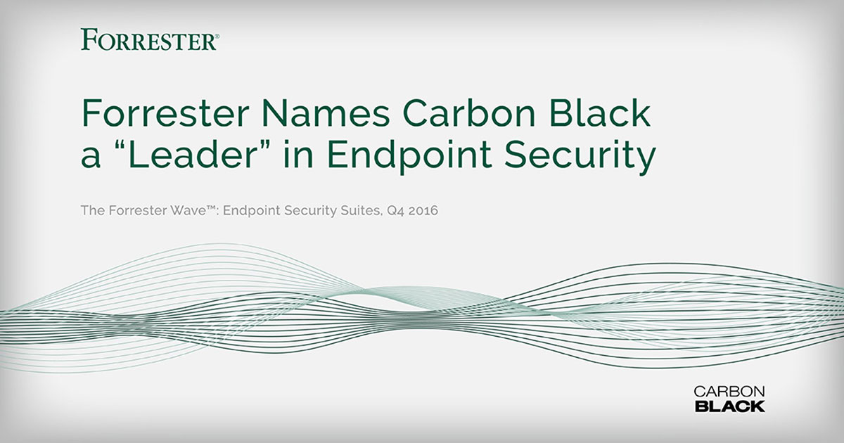 "Forrester Names Carbon Black a ""Leader"" in Endpoint Security"